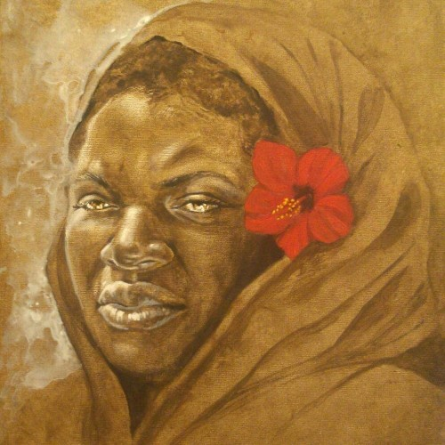 Title: A Queen Returns Artist: Jerome T. White Medium: acrylic on panel Year: 2014 Size: 20x14