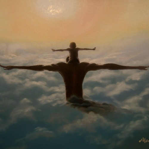 Title :: Spread your wings Dimensions :: 24x30 Medium :: oil on canvas