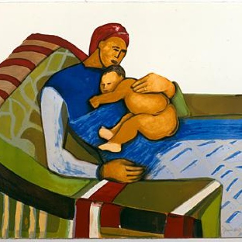 Gwendolyn Knight, Lullaby, 1992_Lithograph