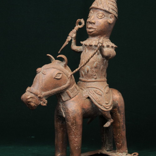 Yoruba Horseman, (bronze) right full