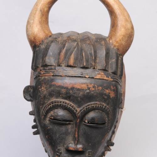 Bambara mask, wood (mask with horns), Mali