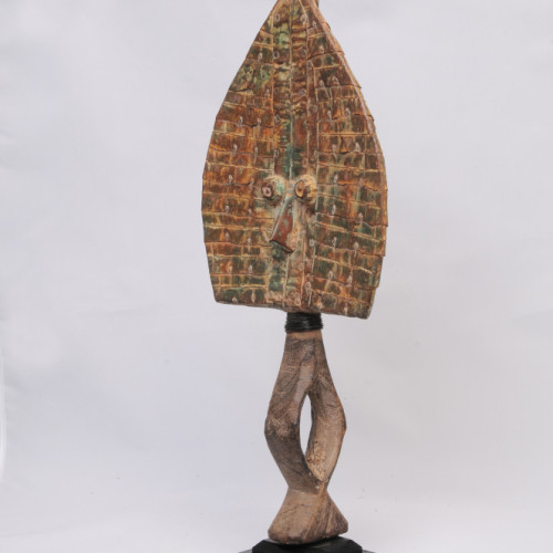 Fang Mahonqwe reliquary figure, Gabon, single face