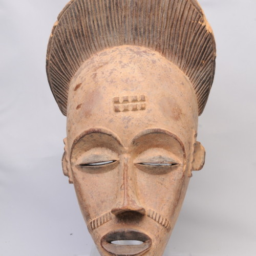 Punu dance mask, Gabon (with beard)