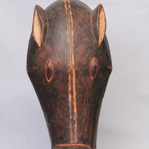 Baule animal dance mask, Ivory Coast front