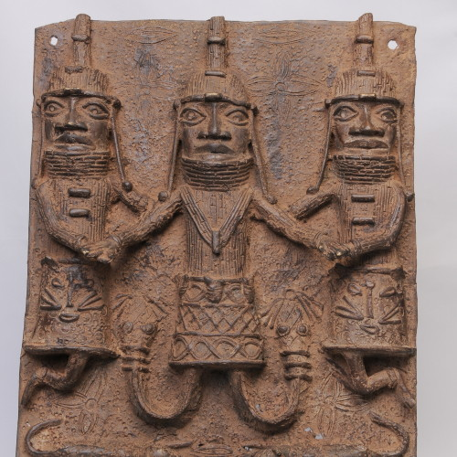 Benin Bronze plaque full