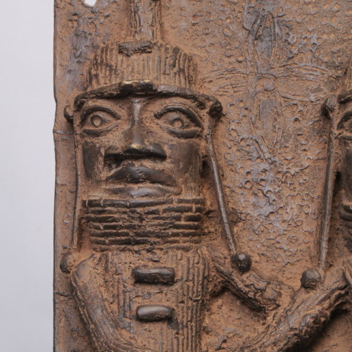Benin Bronze plaque left
