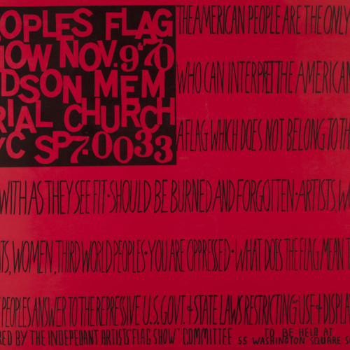 Ringgold Peoples Flag Show PEOPLES FLAG SHOW l offset print on paper l 18x24 l 1971