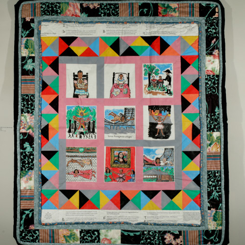 Ringgold Seven Passages to a Flight lStory Quilt l LE 30 l 50x42 l 1997